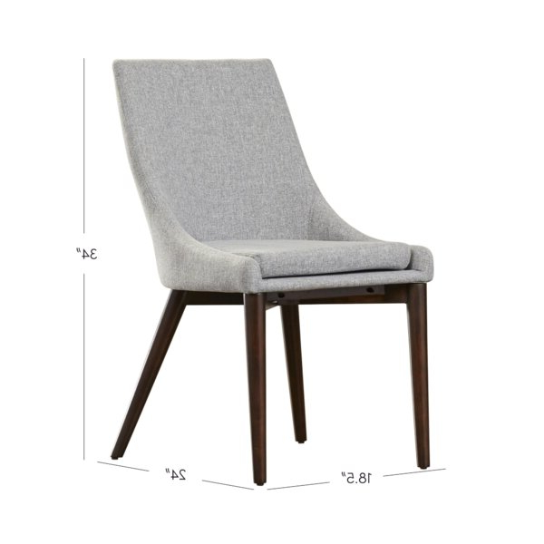 Aaliyah Cotton Upholstered Side Chair In Gray Intended For Aaliyah Parsons Chairs (View 7 of 20)