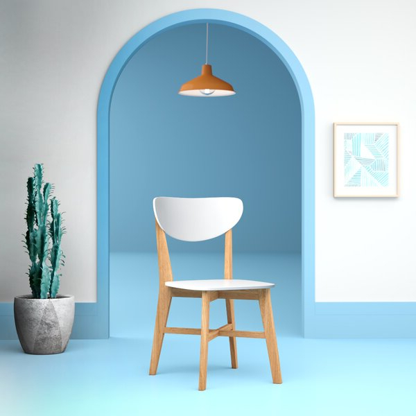 Aaliyah Solid Wood Side Chair In White In Aaliyah Parsons Chairs (View 11 of 20)