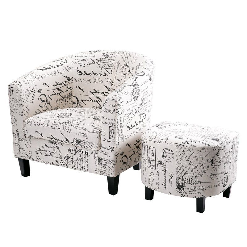 "Abbottsmoor 21"" Barrel Chair And Ottoman | Barrel Chair Within Abbottsmoor Barrel Chair And Ottoman Sets (View 9 of 20)"