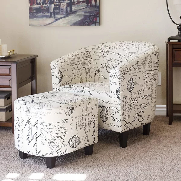 """Abbottsmoor 21"""" Barrel Chair And Ottoman 