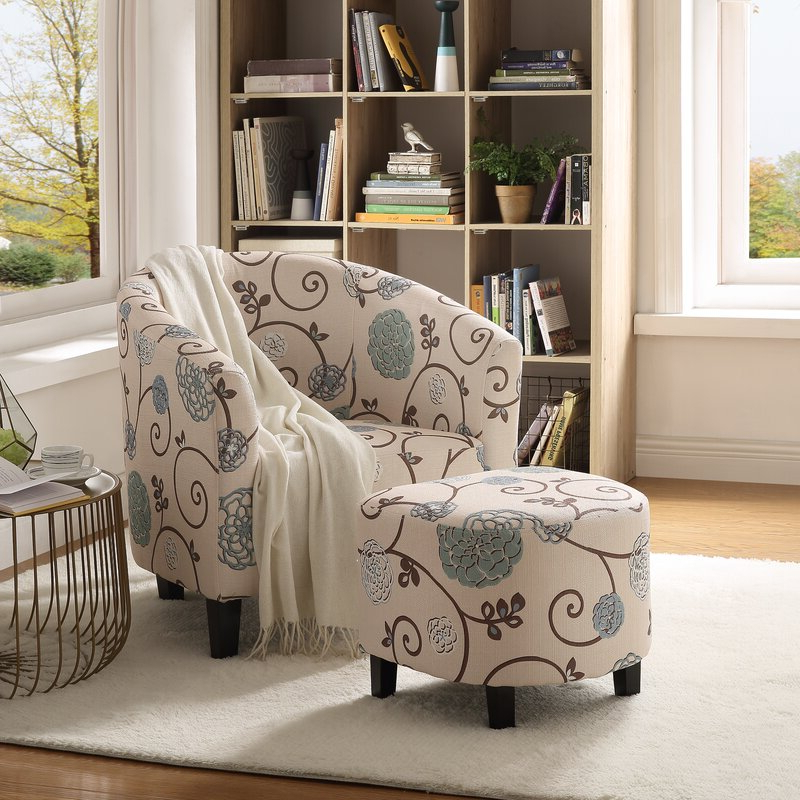 Featured Photo of Abbottsmoor Barrel Chair And Ottoman Sets