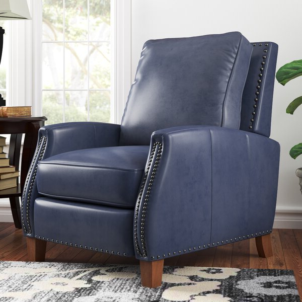 Abeyta Manual Recliner With Regard To Coomer Faux Leather Barrel Chairs (View 18 of 20)