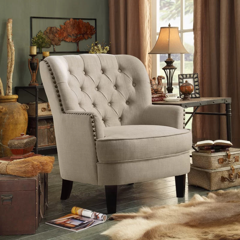 Accent Chairs – Vozeli Inside Lenaghan Wingback Chairs (View 14 of 20)