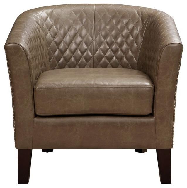 Accentrics Home Eldorado Mink Dining Chair Regarding Filton Barrel Chairs (View 15 of 20)