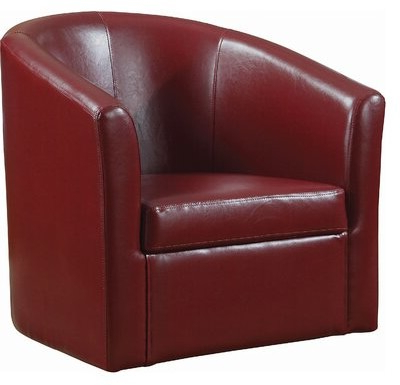 Adabella Barrel Chair For Ansar Faux Leather Barrel Chairs (View 6 of 20)
