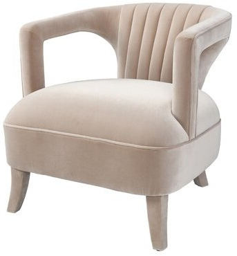 """Adepoju 29"""" W Polyester Armchair In Artressia Barrel Chairs (View 8 of 20)"""