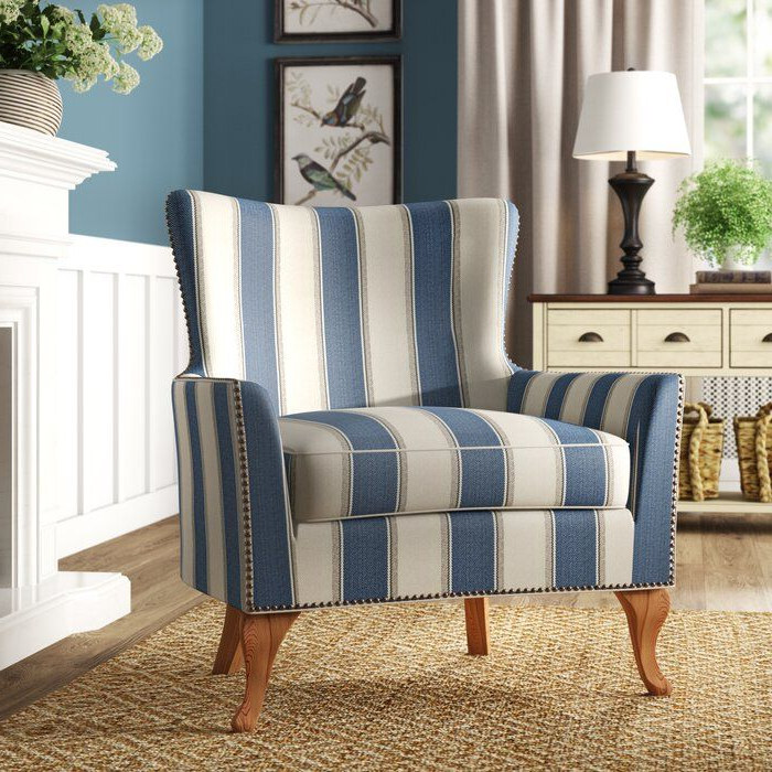 Adlai Wingback Armchair   Arm Chairs Living Room, Armchair Regarding Young Armchairs By Birch Lane (View 11 of 20)
