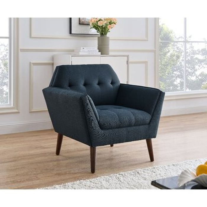 Aguirre Armchair, Blue – Wayfair Intended For Autenberg Armchairs (View 8 of 20)