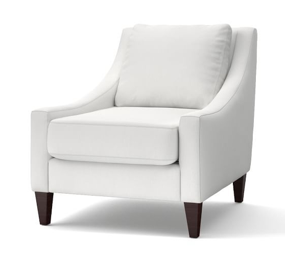 Aiden Upholstered Armchair | Furniture, Upholstered Arm With Alexander Cotton Blend Armchairs And Ottoman (View 14 of 20)