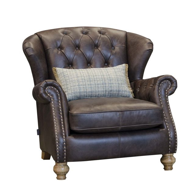Alexander & James Bloomsbury Wing Chair Cal Smoke Leather With James Armchairs (View 7 of 20)