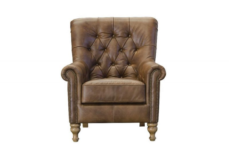 Alexander & James – Sofia Leather Armchair In James Armchairs (View 2 of 20)