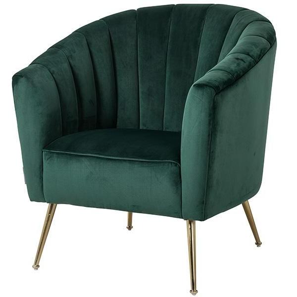 Alexandra Green Velvet Armchair | Green Velvet Armchair Intended For Hutchinsen Polyester Blend Armchairs (View 11 of 20)