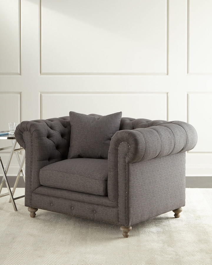 Alice Tufted Chair Pertaining To Allis Tufted Polyester Blend Wingback Chairs (View 14 of 20)