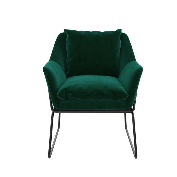 Alivia Accent Chair In 2020 | Accent Chairs, Green Chair With Aalivia Slipper Chairs (View 4 of 20)