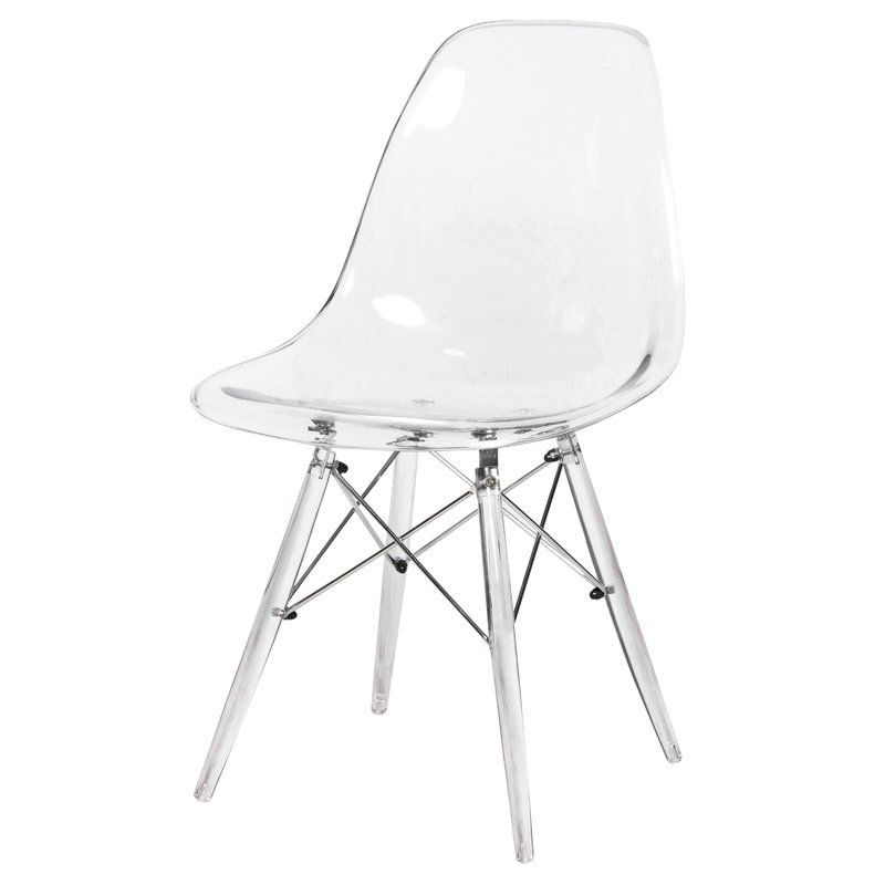 Alivia Dining Chair In 2021 | Acrylic Chair, Side Chairs Intended For Aalivia Slipper Chairs (View 3 of 20)