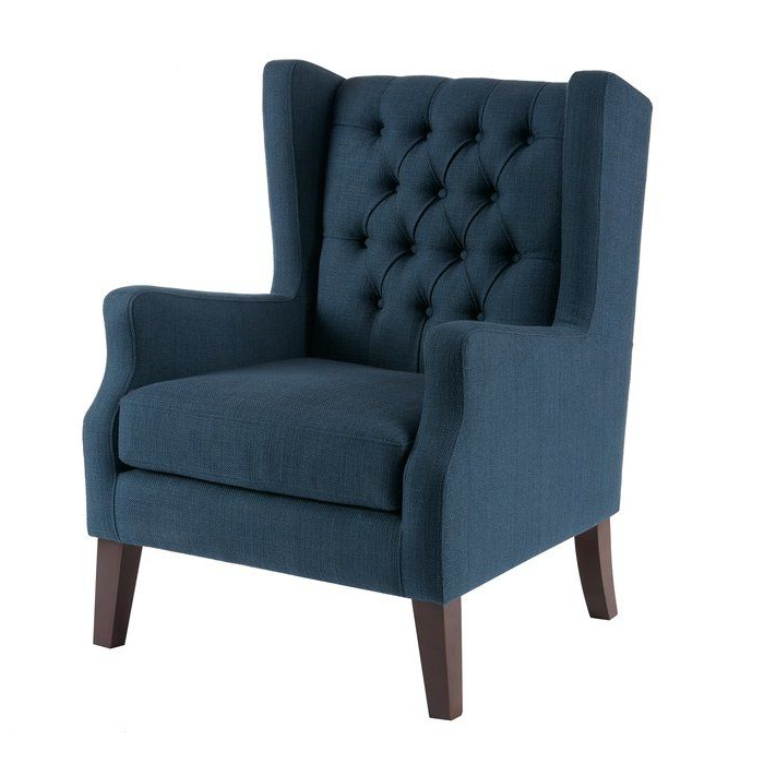 Allis Wingback Chair In 2020   Tufted Wing Chair, Fabric Intended For Allis Tufted Polyester Blend Wingback Chairs (View 4 of 20)