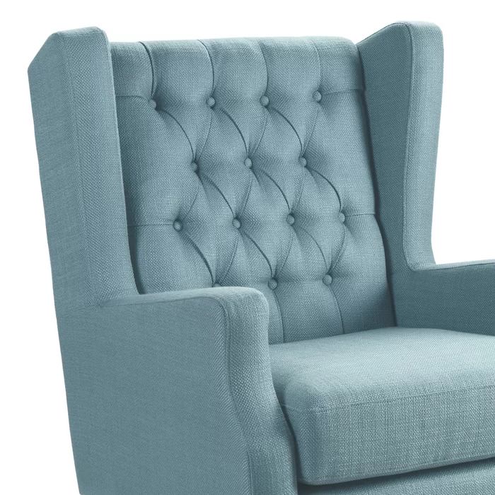 Allis Wingback Chair – Tax Life Within Allis Tufted Polyester Blend Wingback Chairs (View 16 of 20)