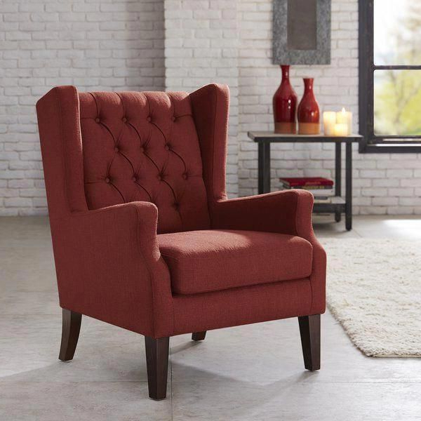 Allis Wingback Chair   Wingback Chair, Tufted Wing Chair In Allis Tufted Polyester Blend Wingback Chairs (View 5 of 20)