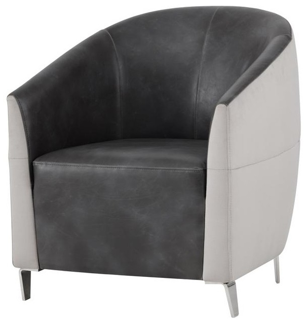 Ambrosi Armchair – Piccolo Dove Fabric / Overcast Grey Inside Barnard Polyester Barrel Chairs (View 20 of 20)