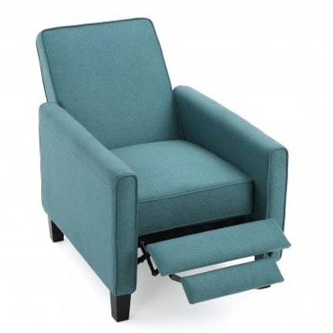 Amelia & Joseph Dara Dark Teal Fabric Recliner Club Chair For Dara Armchairs (View 3 of 20)