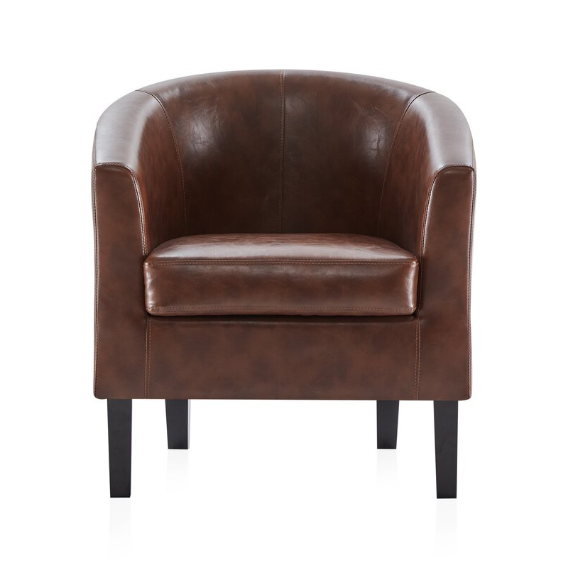 Featured Photo of Ansar Faux Leather Barrel Chairs