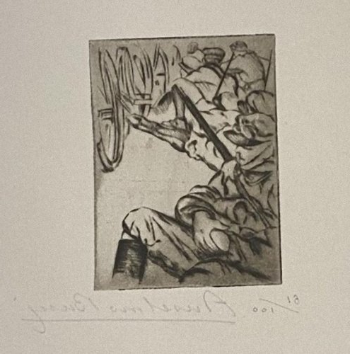 Anselmo Bucci, Military, Etching, 1917 Throughout Bucci Slipper Chairs (View 9 of 20)