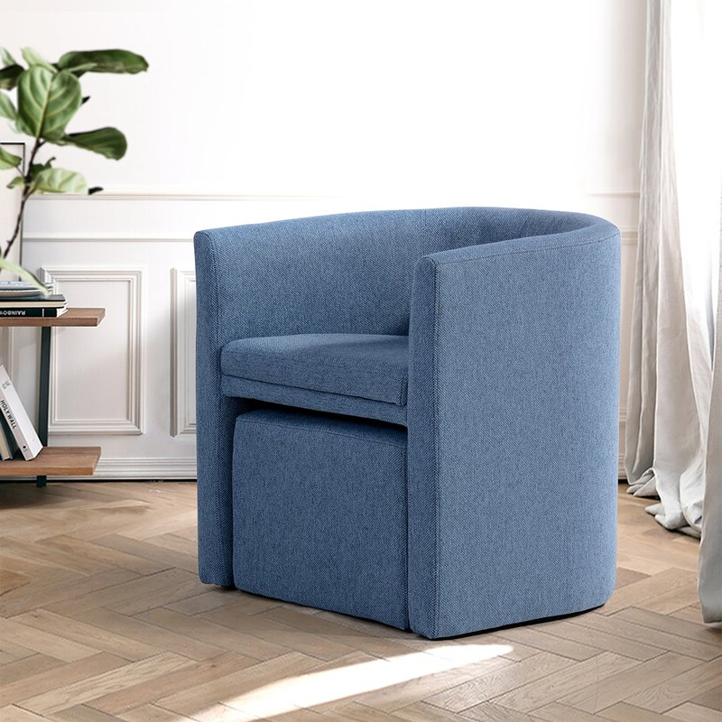 Ansis Barrel Chair And Ottoman With Briseno Barrel Chairs (View 12 of 20)