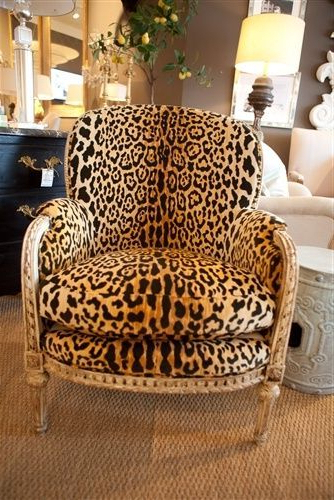 Antique French Bergere With Leopard Velvet – Http://www Within Easterling Velvet Slipper Chairs (View 9 of 20)