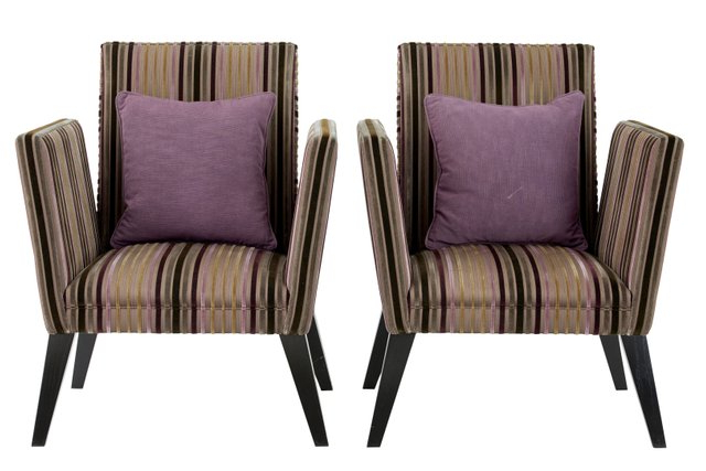 Antique Upholstered Lounge Armchairs, Set Of 2 With Focht Armchairs (View 10 of 20)