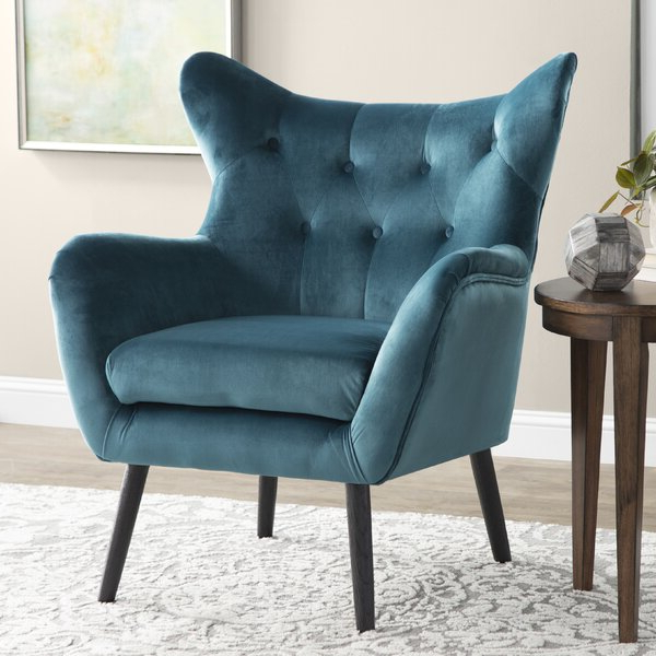Aqua Wingback Chair In Waterton Wingback Chairs (View 11 of 20)