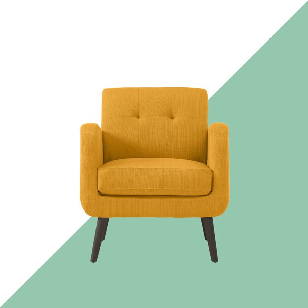 Araceli Armchair Yellow Throughout Biggerstaff Polyester Blend Armchairs (View 6 of 20)