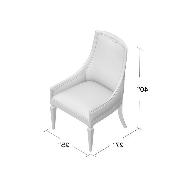Arm Chair In Medium Wood With Ronald Polyester Blend Armchairs (View 17 of 20)