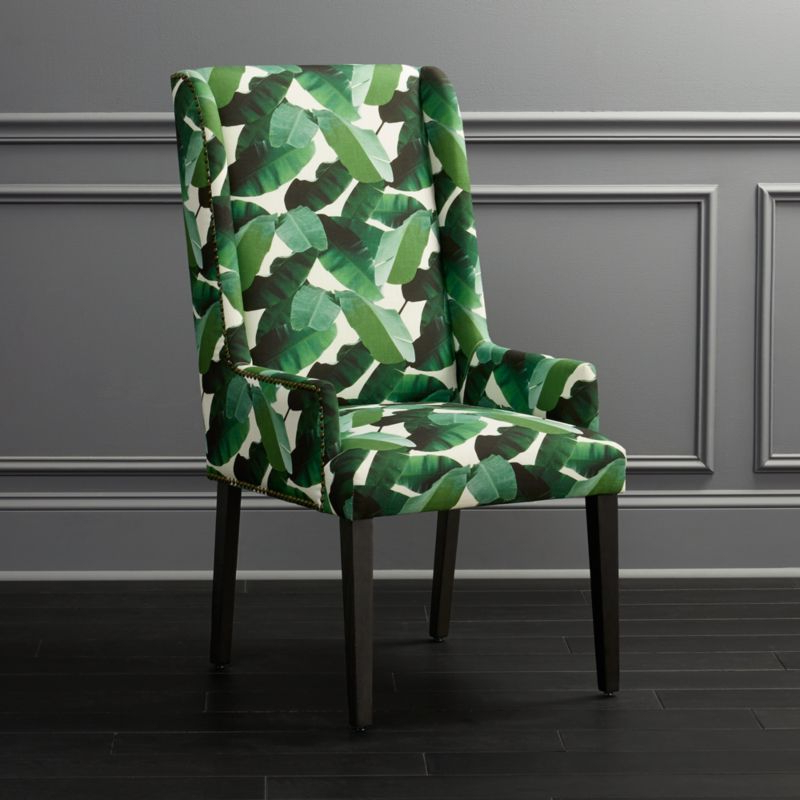 Armchair With Tropical Print In Reynolds Armchairs (View 13 of 20)