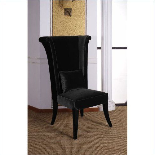 Armen Living Mad Hatter Dining Chair In Blackarmen For Bernardston Armchairs (View 15 of 20)