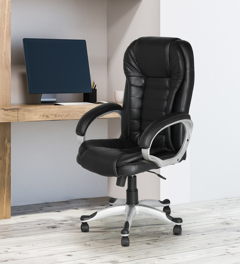 Artemis Executive Chair In Black Colour Within Artemi Barrel Chair And Ottoman Sets (View 9 of 20)
