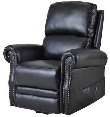 Aryion Faux Leather Power Lift Assist Recliner Leather Type: Black Within Brookhhurst Avina Armchairs (View 9 of 20)