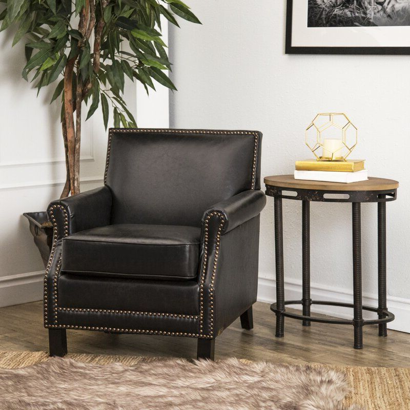 """Asbury 28"""" W Club Chair In 2020   Leather Club Chairs, Black In Asbury Club Chairs (View 5 of 20)"""