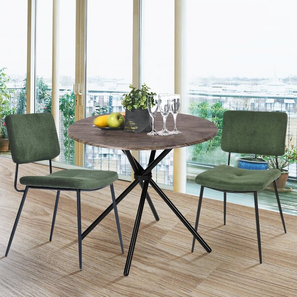 Aspinwall 3 Piece Dining Set Inside Bernardston Armchairs (View 19 of 20)