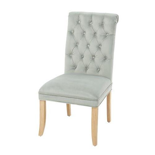 Audrey Eucalyptus Velvet Dining Chair | Velvet Dining Chairs Regarding Aime Upholstered Parsons Chairs In Beige (View 18 of 20)
