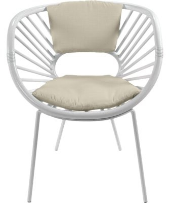 Aura Collection Papasan Chair Upholstery Color: Bright White For Campton Papasan Chairs (View 15 of 20)