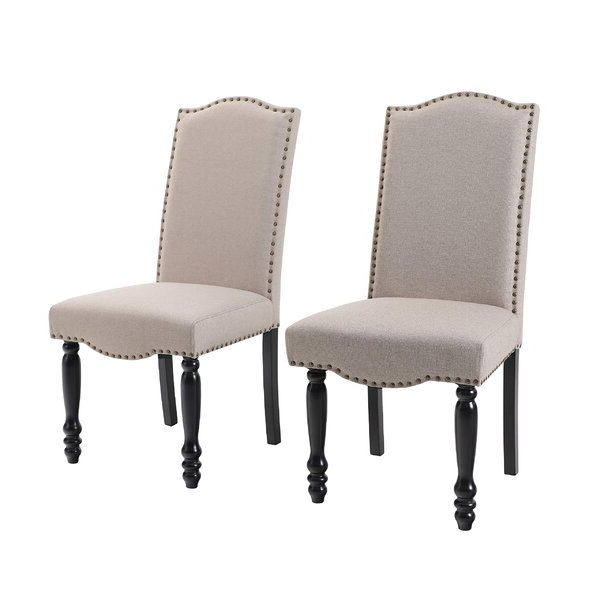 Featured Photo of Madison Avenue Tufted Cotton Upholstered Dining Chairs (Set Of 2)