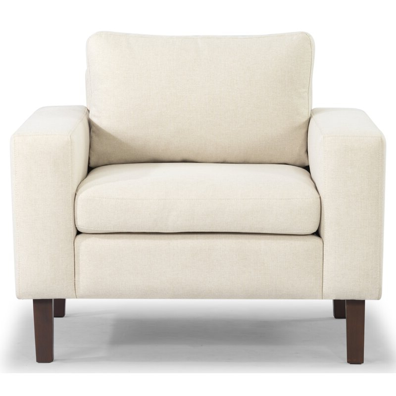 "Azekiel 34"" W Polyester Blend Armchair Throughout Leia Polyester Armchairs (View 9 of 20)"
