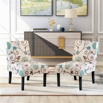 Bartolotti Linen Upholstered Parsons Chair Upholstery Color: Black/white Script Within Bethine Polyester Armchairs (set Of 2) (View 18 of 20)