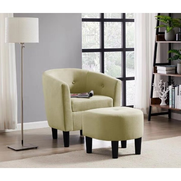 Bedroom Chairs With Ottoman In Riverside Drive Barrel Chair And Ottoman Sets (View 11 of 20)