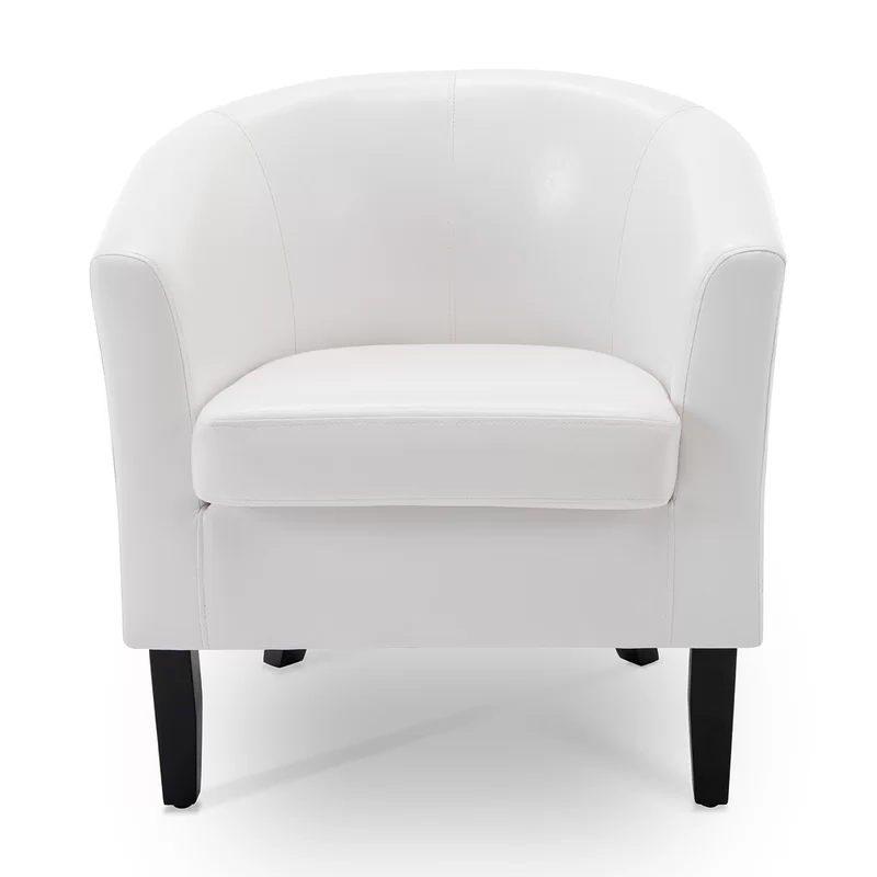 Belleze Barrel Chair & Reviews | Wayfair | Barrel Chair Throughout Munson Linen Barrel Chairs (View 7 of 20)