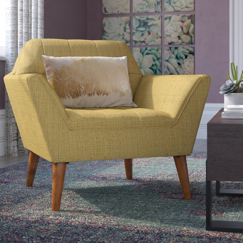 """Belz 38"""" W Tufted Polyester Armchair With Belz Tufted Polyester Armchairs (View 2 of 20)"""