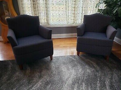 Bernhardt Almada Style Fabric Club Chairs (set Of 2) | Ebay With Almada Armchairs (View 19 of 20)