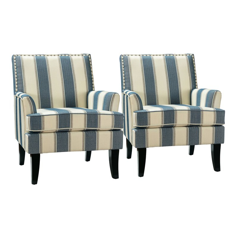 Featured Photo of Bethine Polyester Armchairs (Set Of 2)