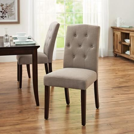 Better Homes And Gardens 7 Piece Dining Set With Upholstered Throughout Aaliyah Parsons Chairs (View 13 of 20)