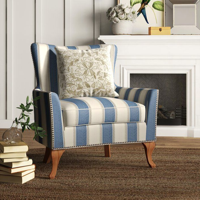 Birch Lane™ Heritage Zubair Wingback Armchair & Reviews Throughout Young Armchairs By Birch Lane (View 14 of 20)